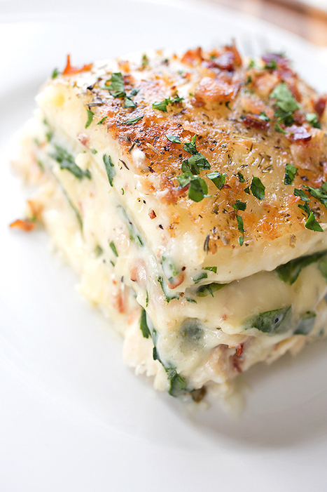 Creamy Chicken Florentine Lasagna | @Ease Catering Limited | Scoop.it