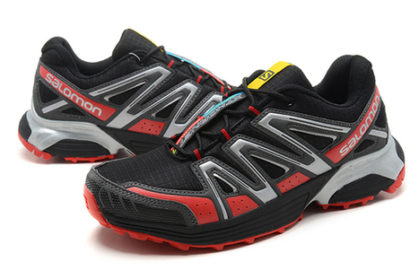 Mens Salomon XT Hornet Trail Running Shoes Black Red grey | new and popular list | Scoop.it