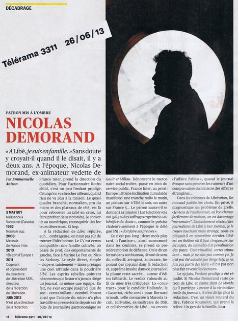 Nicolas Demorand, patron mis à l'ombre | DocPresseESJ | Scoop.it