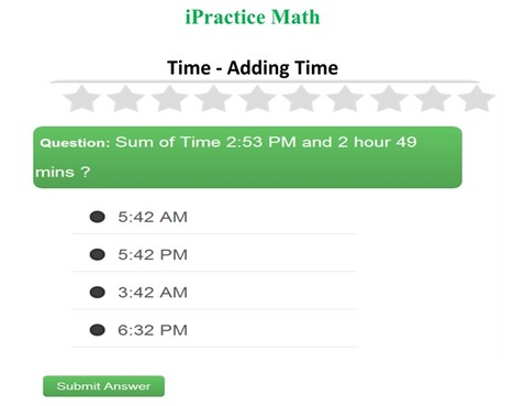 Time - Math practice and Test for kids - iPracticeMath | Fun Math for kids | Scoop.it
