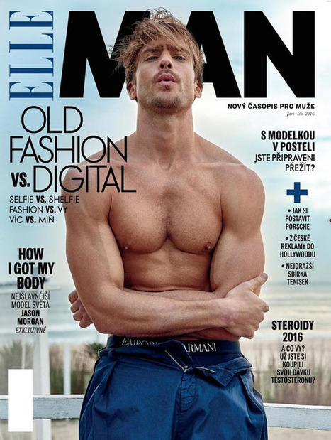 THE SUPERMODEL JASON MORGAN COVERS ELLE MAN CZECH SPRING SUMMER 2016 | FlexingLads | Scoop.it