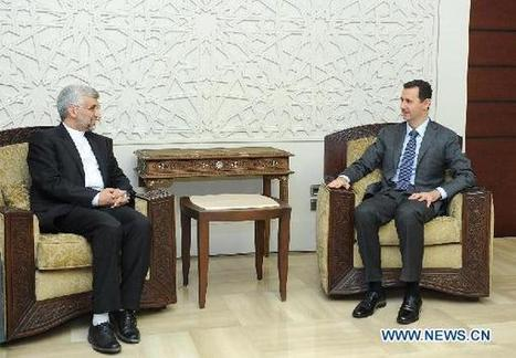 """#Syria's Assad stresses his people's determination to eradicate terrorists 
