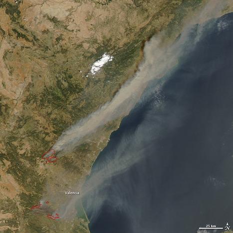 Els focs de València vist des de l'espai. Fires in Eastern Spain : Natural Hazards | TIG | Scoop.it