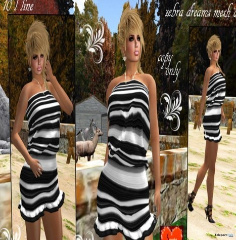 Zebra Dreams Mesh Dress Gift by Savoha Creations | Teleport Hub - Second Life Freebies | Second Life Freebies | Scoop.it