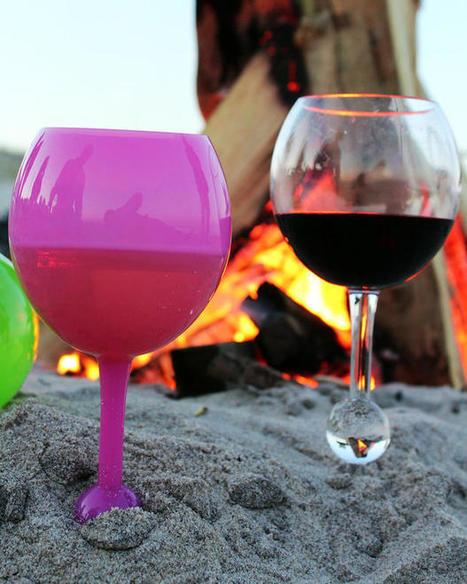 Un verre à vin sans pied spécialement conçu pour la plage | Bottlair | Scoop.it
