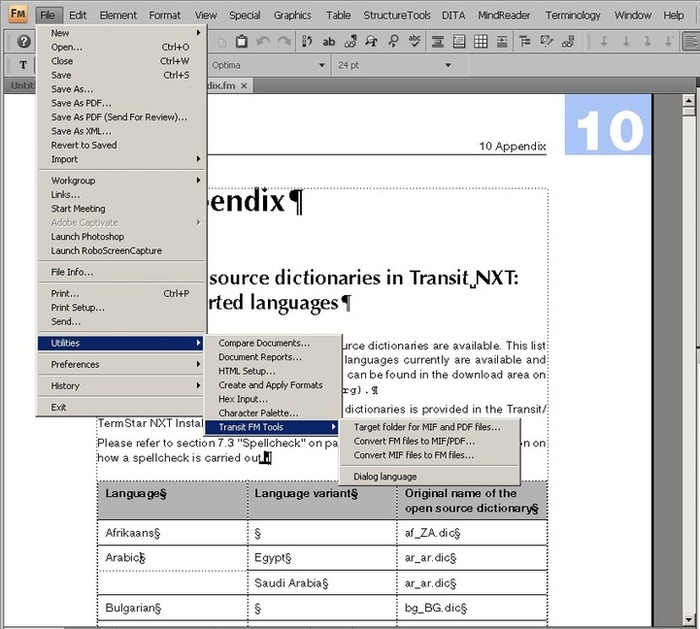 (CAT) - Transit NXT and FrameMaker | Michael Scholand | Glossarissimo! | Scoop.it