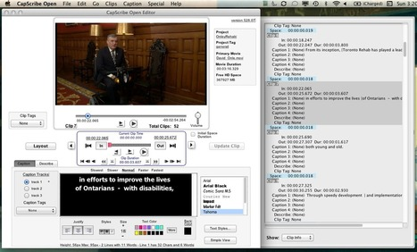 Caption and Sub-Title Your Video Clips with CapScribe (Mac) | Aplicaciones y Herramientas . Software de Diseño | Scoop.it
