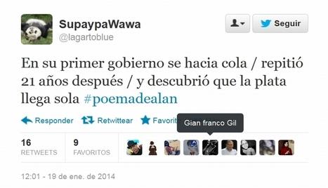 'Tuiteros' critican y se burlan del poema de Alan García | MAZAMORRA en morada | Scoop.it