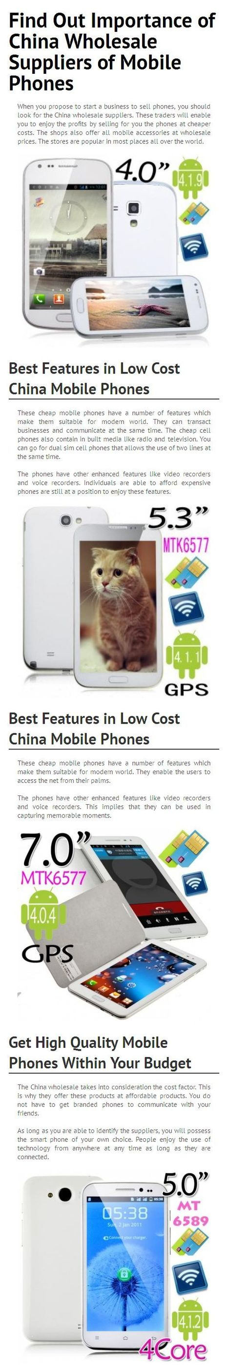 Find Out Importance of China Wholesale Suppliers of Mobile Phones | China Wholesale Suppliers | Scoop.it