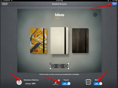Control What Students Can Do with iPad Using Guided Access Functionality | Time to Learn | Scoop.it
