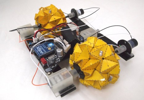 THE DEFORMABLE WHEEL ROBOT USING MAGIC-BALL ORIGAMI STRUCTURE | Heron | Scoop.it