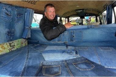 Taunton man clads VW camper van interior with denim jeans - This is Somerset | VW Camper Vans | Scoop.it