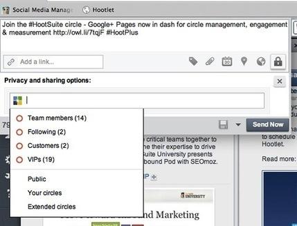 Hootsuite prend en charge votre page commerciale Google+   Gotta see it   Scoop.it
