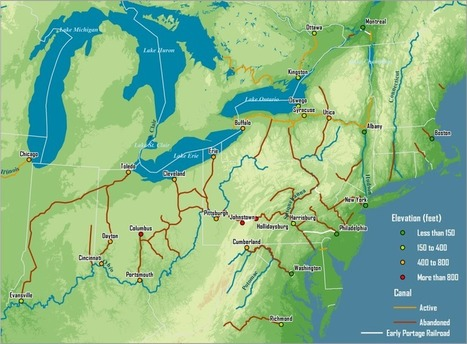 Major Canals Built in the 19th Century, American Northeast | Teacher Tools and Tips | Scoop.it
