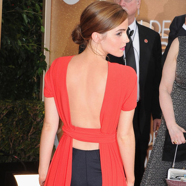 What do you think of Emma Watson's Golden Globes dress and leggings? | dress online for woman | Scoop.it