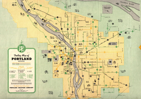 trolley-map-portland-traction-co-1943 | PDX water maps and messes | Scoop.it