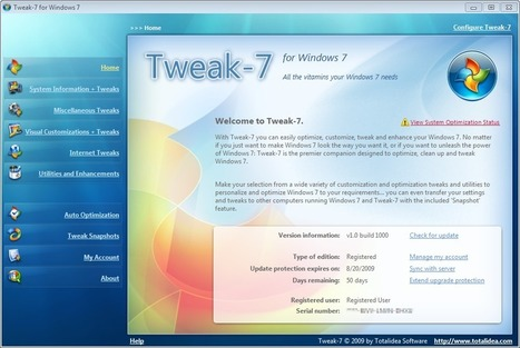Tweak-7 1.0 Build 1135 (x86/x64) - Windows 7 | Time to Learn | Scoop.it