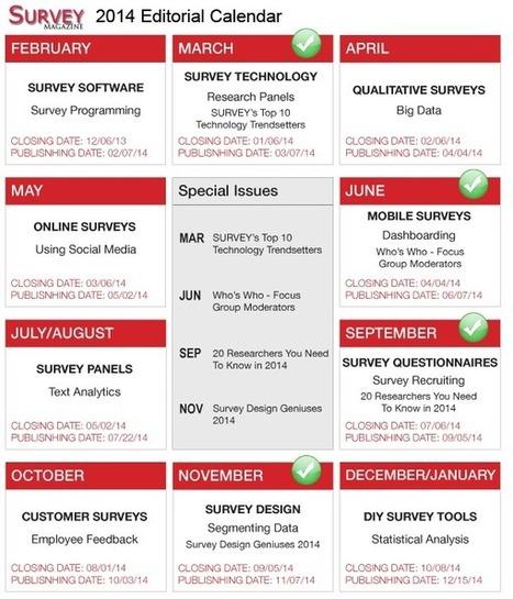 Editorial Calendar - SURVEY Editorial Calendar | Survey Magazine | Surveys | Scoop.it