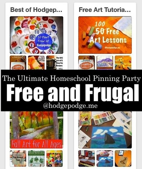 Free and Frugal at The Ultimate Homeschool Pinning Party - Hodgepodge | Frugal and Thrifty | Scoop.it
