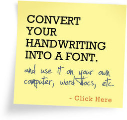 Create handwritten letters online - using your own hand writing fonts | Writing Fonts | CoolToolBox | Scoop.it