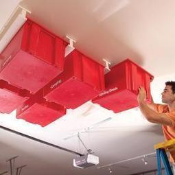Sliding Storage On Garage Ceiling | Home & Office Organization | Scoop.it