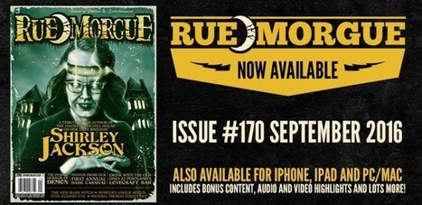 Shirley Jackson turns 100 in RUE MORGUE #170 September 2016 issue | Rue Morgue | Gothic Literature | Scoop.it