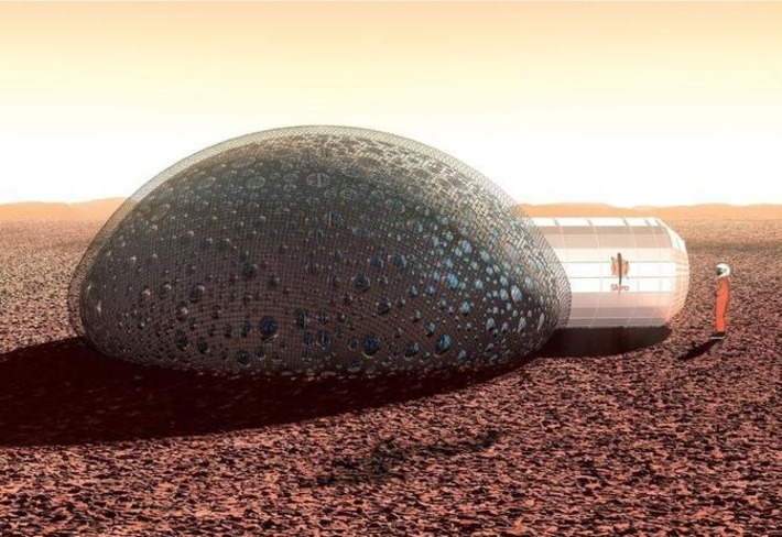 French sci-fi aesthetic comes to 3D-printed Mars habitat - CNET | Machinimania | Scoop.it