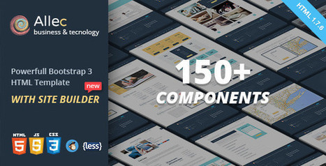 Bootstrap Website Templates for the Trendy Web Designer | Templates | Scoop.it