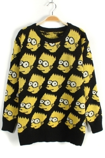 Simpson Graphic Sweater - OASAP.com | Sweaters and Cardigans | Scoop.it