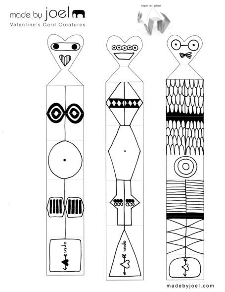 printable valentine crafts for children