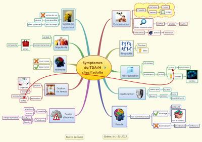 Mindmapping et trouble de l'attention (TDA/H) chezl'adulte   Medic'All Maps   Scoop.it