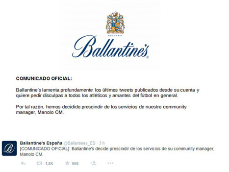 Goleada de Manolo, el CM despedido por Ballantine's | Seo, Social Media Marketing | Scoop.it