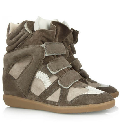Upere Wedge Sneakers Suede Army Green - $191.98 | UPERE Wedge Sneakers Show | Scoop.it