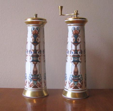 Vintage Lenox Lido Pattern Salt Shaker and Pepper Mill Set - The Vintage Village | Vintage Passion | Scoop.it