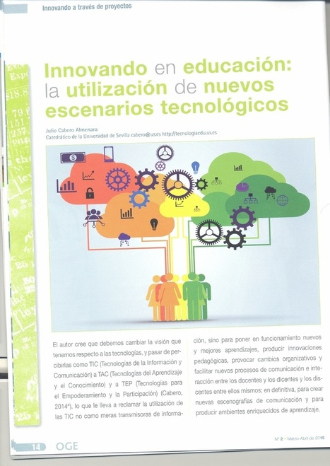 Innovando en educación: la utilización de nuevos escenarios tecnológicos | Educacion, ecologia y TIC | Scoop.it