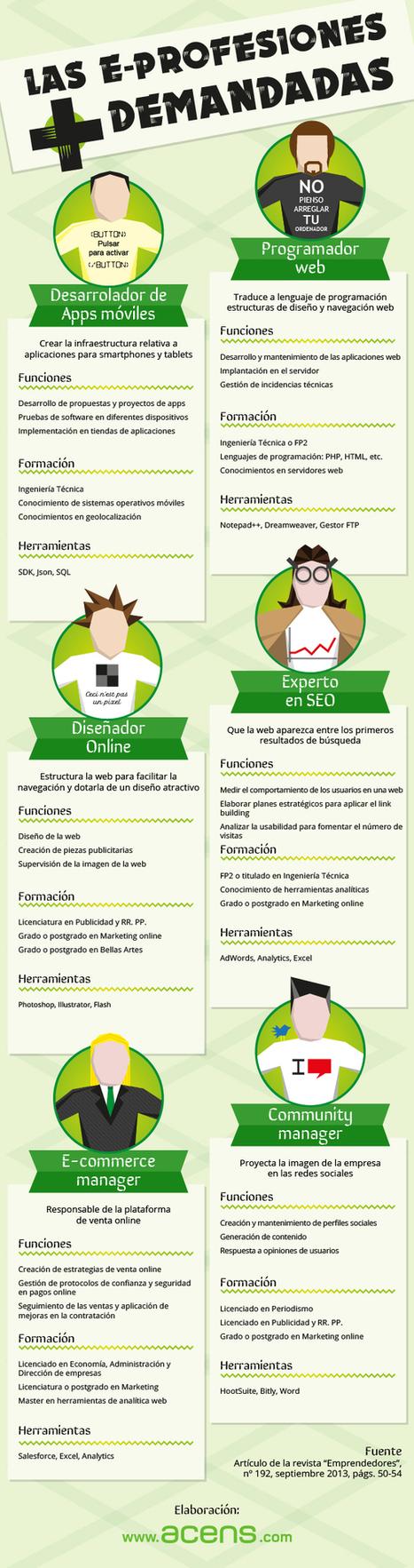 Las e-profesiones más demandados   Educacion, ecologia y TIC   Scoop.it
