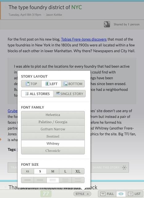 NewsBlur: new font and style manager | RSS Circus : veille stratégique, intelligence économique, curation, publication, Web 2.0 | Scoop.it