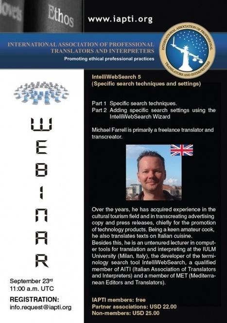 Webinar II for the International Association of Professional Translators and Interpreters   Michael Farrell - Training for Translators   Scoop.it