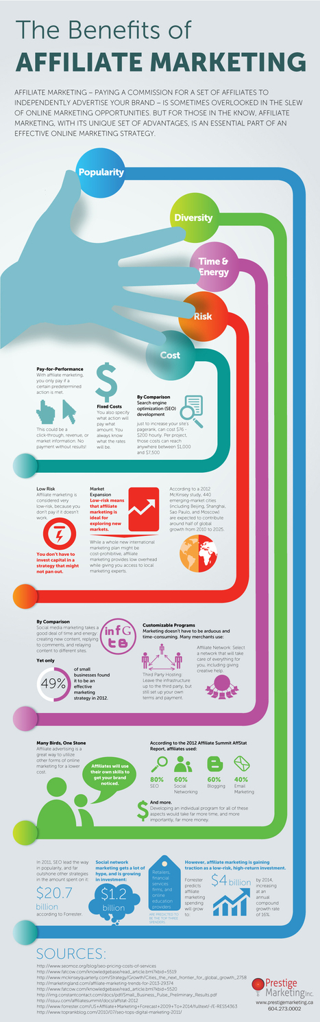 Affiliate Marketing Infographic (Business Infographics) | Marketing & Advertising | Scoop.it