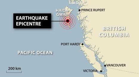 6.4 magnitude aftershock hits south of Haida Gwaii after 7.7 earthquake; no tsunami alert issued | A2 Tectonics | Scoop.it