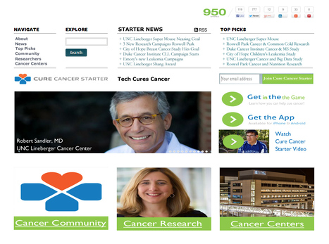 Cure Cancer Starter Homepage First Look and Marty's Steals | Design Revolution | Scoop.it