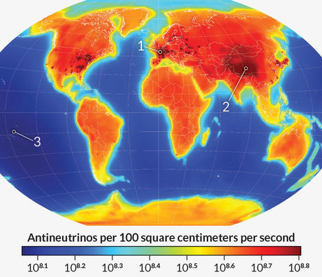 Map captures Earth's antineutrino glow - #Science News #physics | Limitless learning Universe | Scoop.it