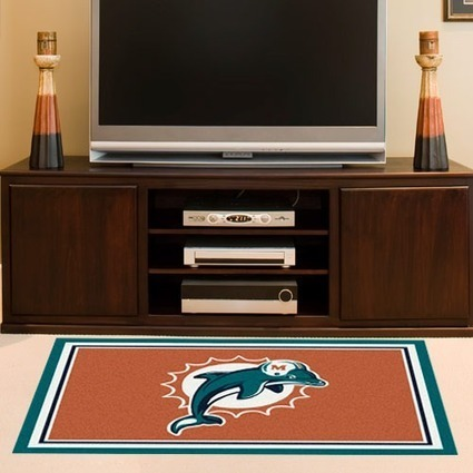 "Miami Dolphins 3'10"" x 5'4"" Logo Rug 