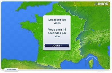 Jeu : les villes de France | Géo Ado | Serious games | Scoop.it