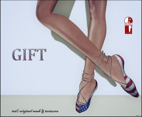 Independence Day Shoes Gift by ChicChica | Teleport Hub - Second Life Freebies | Second Life Freebies | Scoop.it