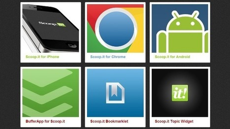 Scoop.it lanza su extensión oficial para Chrome y una página con todos los complementos que tiene | De interés educativo | Scoop.it