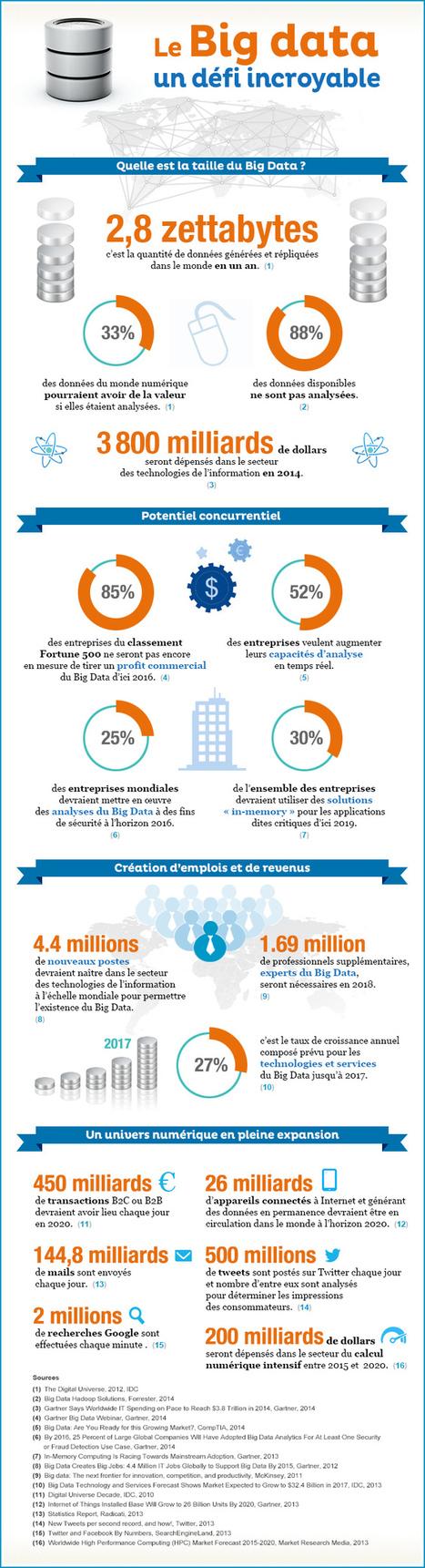Infographie : le Big Data, un défi incroyable | Data Science | Scoop.it