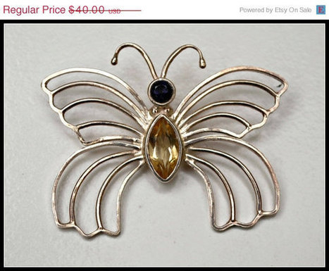 spring Sterling Silver Citrine Butterfly Pendant. | serendipity treasures | Scoop.it