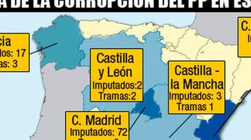 Este es el mapa de la corrupción del Partido Popular en España | Partido Popular, una visión crítica | Scoop.it