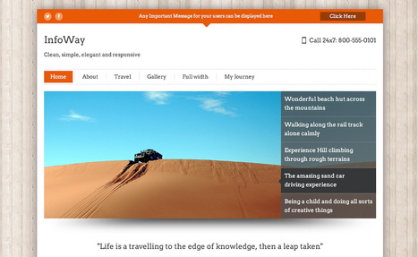 New Themes: Traveler and InfoWay | Business in a Social Media World | Scoop.it